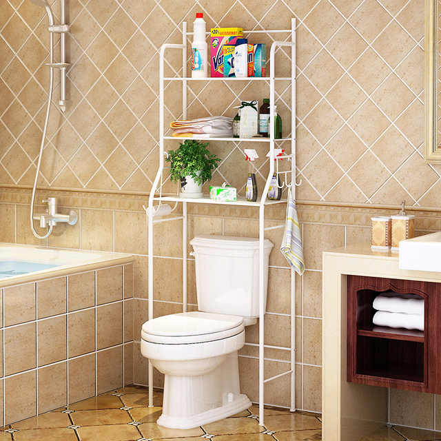ITAS0105 Bathroom shelves washing machine Storage rack Toilet Shelf Landing Toilet rack Home used Shelf : bathroom shelf - amorenlinea.org