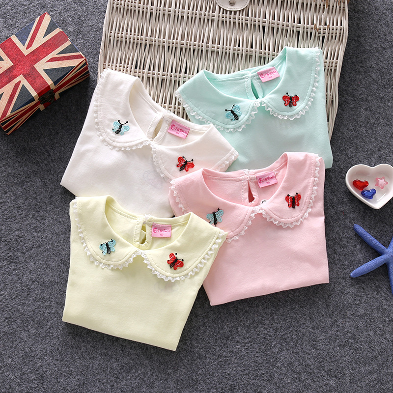 Girls T-Shirts Short-Sleeve Kids Tops Cotton Fashion Summer Infant Tees 0-6-Years