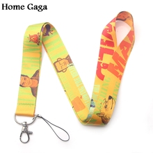 Homegaga Man vs Wild Bear Grylls keychain lanyard webbing ribbon neck strap fabric badge phone holder necklace accessory D1684
