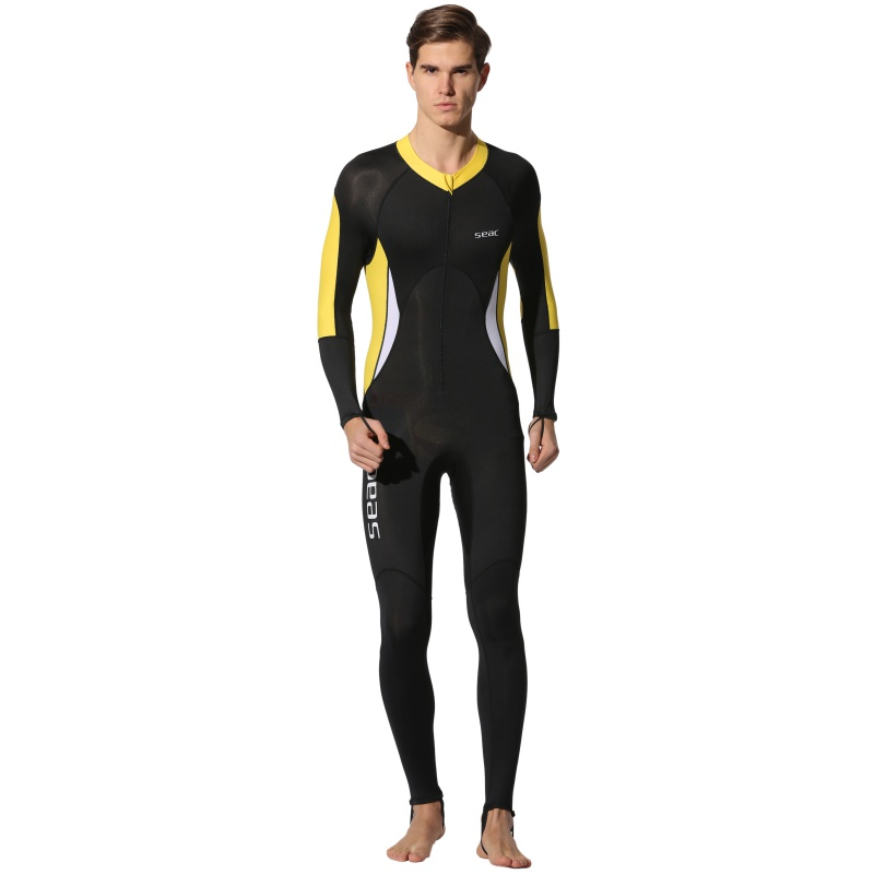 2018 New Couple s Wetsuits Lycra Diving Suit One-piece Swimwear For Diving  0.5mm Patchwork d3a749965