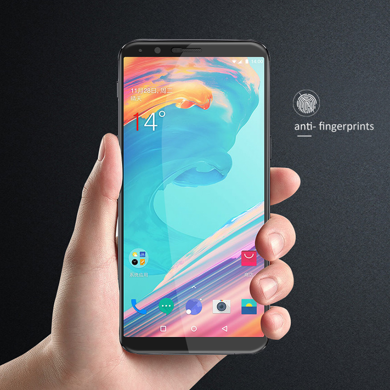 CHYI 5D Curved Glass For Oneplus 7 pro 6T 5T Screen Protector Full glue Cover Round Edge 1+7 6 5 Tempered Glass Better than 3D