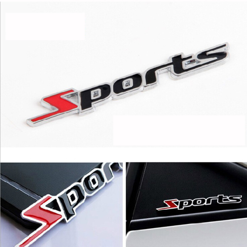 Sport Version Metal Car Sticker Labeling Sports Word letter 3D Chrome metal Car Sticker Emblem Badge Decal Auto Accessories usb