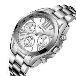 CONTENA Frauen Uhren Frauen Top Berühmte Marke Luxus Casual Quarzuhr weibliche Damen uhren Frauen Armbanduhr relogio feminino