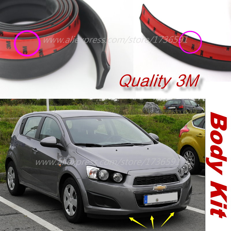 For Chevrolet Aveo Sonic Car Bumper Lips / Spoiler For Car Tuning / Body Kit Strip / Front Tapes / Body Chassis Side Protection