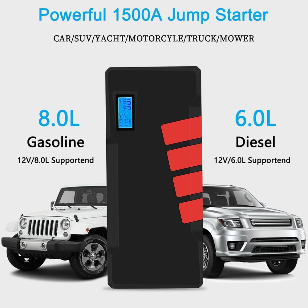 Image 3 - 20000mAh Car Jump Starter 1500A Vehicle Emergency Battery Auto buster Battery Car Booster Starter starting device Power Bank-in Jump Starter from Automobiles & Motorcycles on