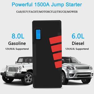 Image 3 - 20000mAh urządzenie do uruchamiania awaryjnego samochodu 1500A akumulator awaryjny pojazdu Auto buster kable rozruchowe Booster Starter urządzenie zapłonowe Power Bank