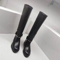 Новые женские ботинки из натуральной кожи на плоской подошве, ботильоны martin, женские мотоциклетные ботинки, Осенняя обувь, женские зимние с