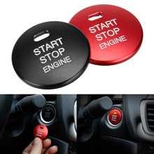 START Engine Button Replace Cover STOP Key Accessories Switch Decoration Cover Trim Aluminum 2Color for Mazda 2 3 6 CX-3 CX-5