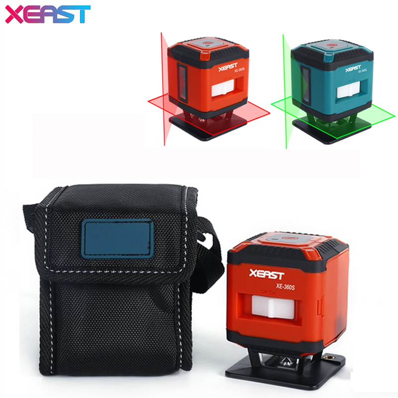 XEAST XE-360C 5 Lines 3D laser level Self-Leveling 360 Horizontal And Vertical Cross Super Powerful Red or green Laser Beam Line fukuda mw 99t 12lines 3d laser level self leveling 360 horizontal and vertical cross super powerful red laser beam line