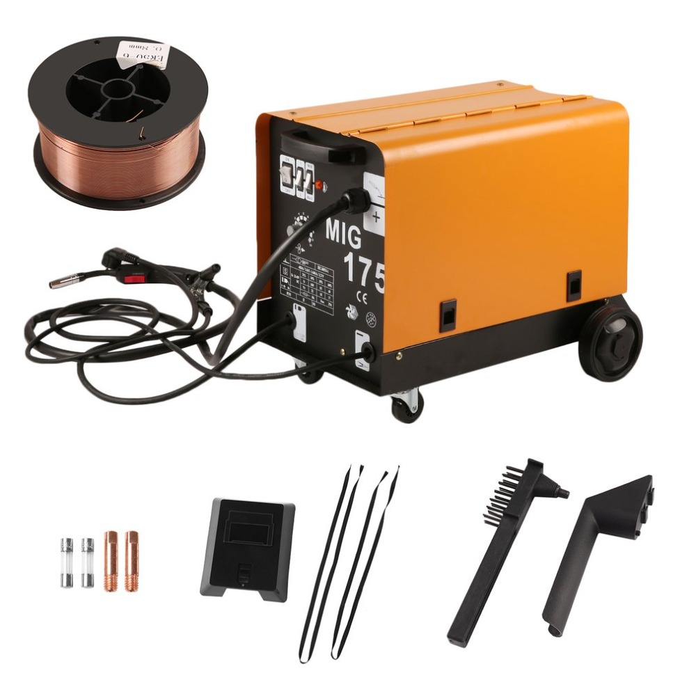 MIG 175 Single Phase Portable Fan Cooling Wire Stable Gas Shielded Welding Machine For Weldering EU Plug