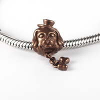 RainMarch Fits Pandora Charms Bracelets Original 925 Silver 2019 Brown Dog Beads with Bone Pendant Jewelry Making Dropshipping