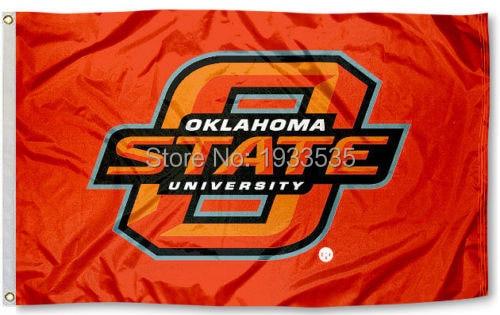 ok state cowboys flag osu orange large banner flag 3 x 5 banner brass