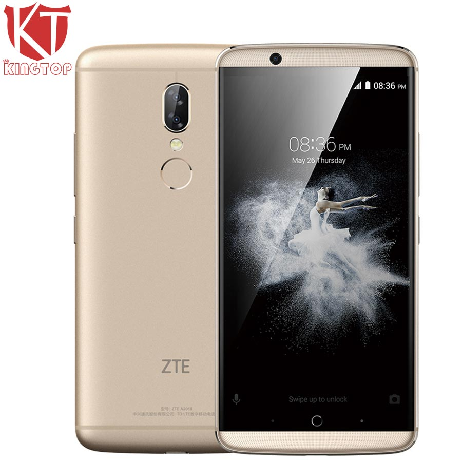 Original ZTE Axon 7S A2018 4G LTE Mobile Phone Snapdragon 821 Quad Core 4GB RAM 128GB ROM 5.5 inch Camera 20MP NFC Fingerprint