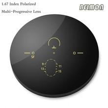 1.67 Index Asferische Multi Focal Gepolariseerde Progressieve Lens Recept Bijziendheid Presbyopie Bril Lens UV400 RS613