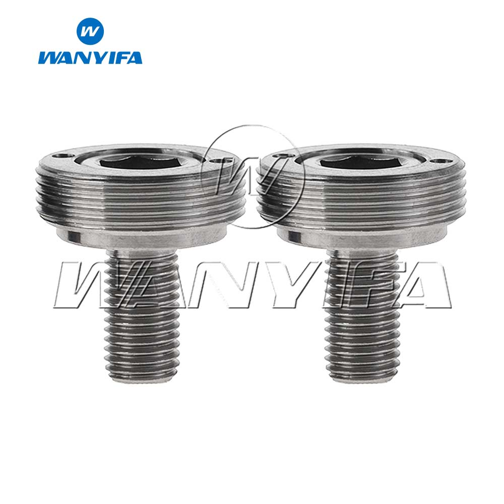 Wanyifa 2 Pcs set M8x15mm Crank Bolt Extractor Washer Bicycle Crank Bolt Titanium Bolt Screw for Bicycle Extractor Sleeve in Bicycle Crank Chainwheel from Sports Entertainment