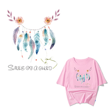Dreamcatcher Patch Iron on Transfer Letter Patches for Girl Clothing DIY T-Shirt Applique Heat Transfer Vinyl Ironing Stickers iron on heart mouse patches for kids girl clothing diy t shirt dresses applique heat transfer vinyl thermo letter patch stickers