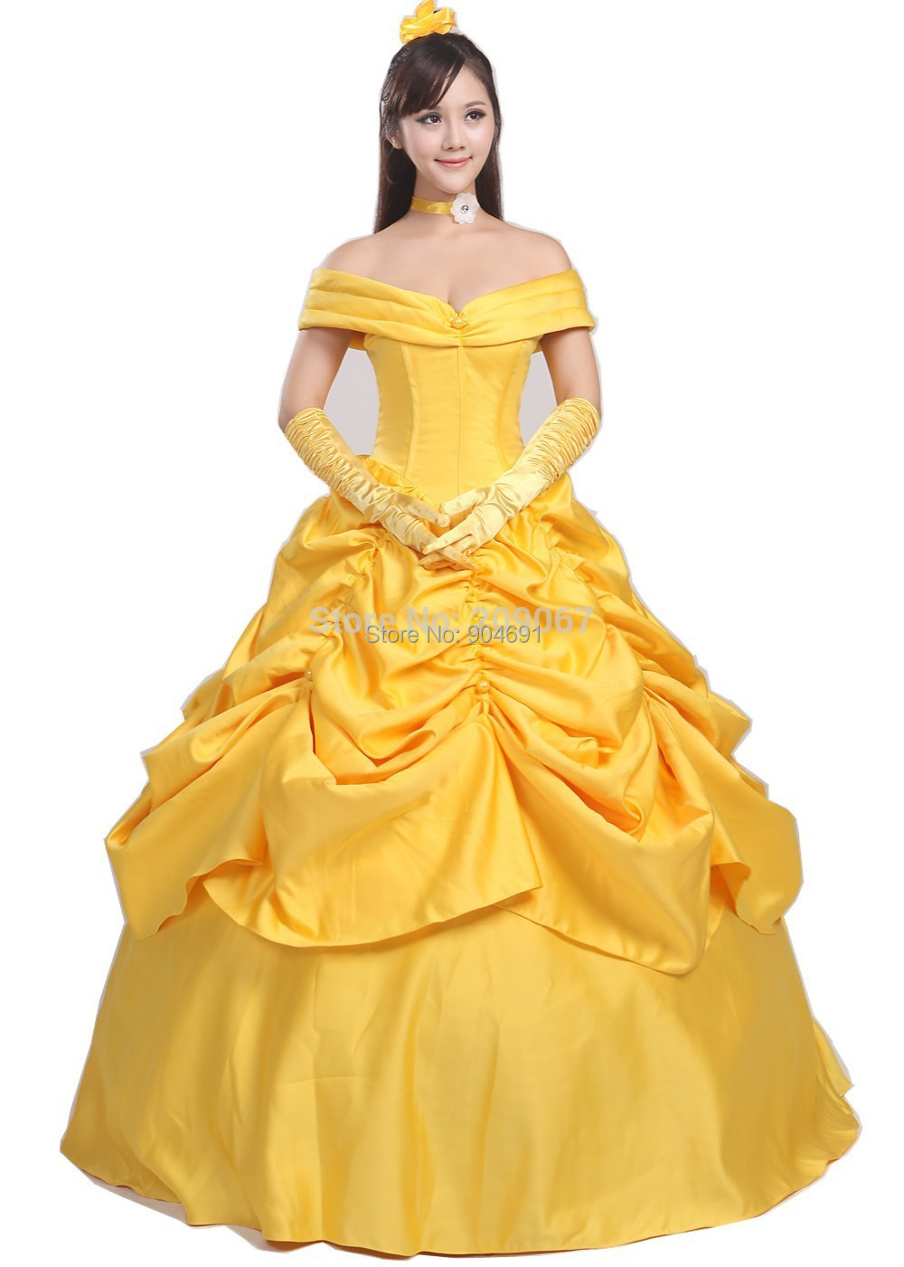 Beauty And The Beast Belle Princess Cosplay Dress Yellow Custom Made Costume For Women Or Girls Customized Dresses In Lolita From Novelty