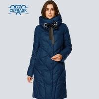 CEPRASK 2018 High Quality New Winter Jacket Women Parks Plus Size Long Fashionable Warm Women's Winter Coat Hooded Down Jacket