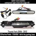 Hd LED Night Vision vídeo Auto estacionamento Monitor de backup SONY câmera retrovisor do carro com 4.3 polegada espelho retrovisor do carro para Toyota Yaris