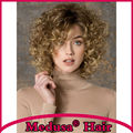 Medusa hair products: Modern Synthetic lace front wigs for women Medium length curly shag style Mix color pastel wig SW0276A