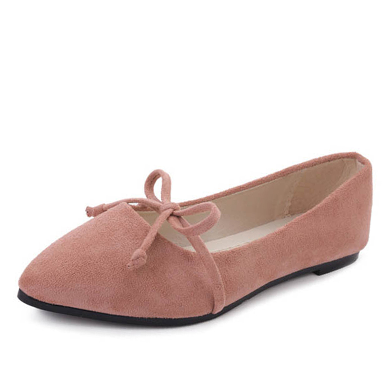где купить 2018 women's flat shoes fashion spring women's pointed flat ballet velvet shallow shoes Pumpsing casual shoes bow tie flat shoes по лучшей цене