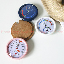 75mm BAOYI 3 Color Mini Wall Mounted Outdoor Thermometer&Hygrometer Indoor Temperature Instruments with Humidity Meter