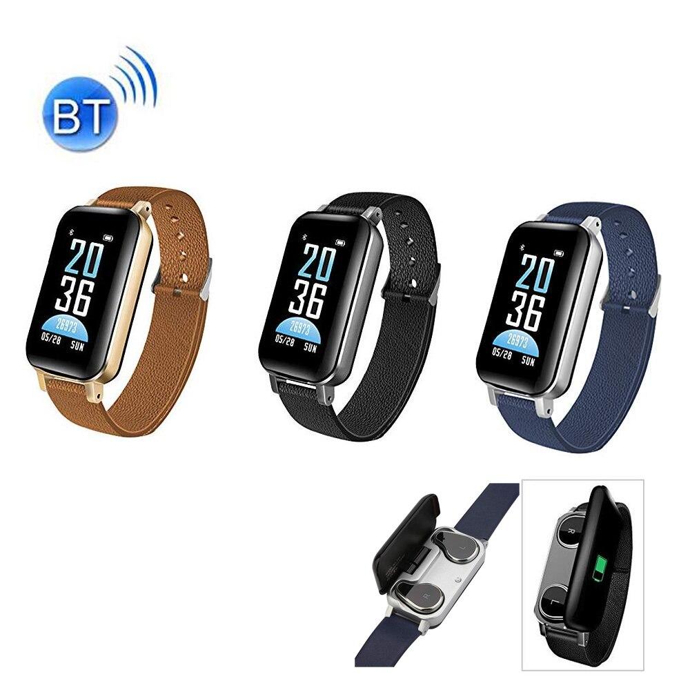 T89 TWS intelligent Binaural Bluetooth écouteur Fitness Bracelet moniteur de fréquence cardiaque intelligent Bracelet Sport montre écouteur hommes femmes