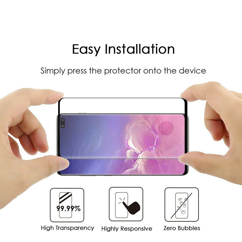 50pcs Full Cover Curved Tempered Glass For Samsung S9 S8 Plus S7 S6 Edge Note 9