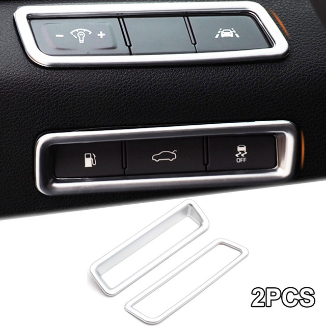 For Hyundai Sonata LF 2015 2016 2017 2018 Chrome Interior Center Console  Control Switch Panel Bezel