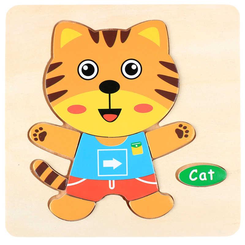 Quebra-cabeças Para Crianças Frutas Tráfego Quebra-cabeças de Animais Brinquedos Do Bebê de Aprendizagem A014 Crianças Jogos Educativos Brinquedos De Madeira 3D Quebra-cabeças De Madeira