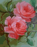 MaHuaf W271 Pink Flower DIY Oil Painting By Numbers Hand Painted Framed Acrylic Picture Coloring By