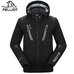 Мужская лыжная куртка Pelliot, водонепроницаемая, дышащая, теплая куртка для сноуборда, Бесплатная доставка! Гарантия подлинности!