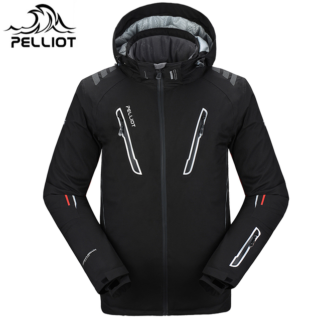 2018 Pelliot Ski Jacket Men's Water-Proof,Breathable Thermal Snowboard Out Coat Free Shipping!Guarantee The Authentic!