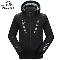 Pelliot Ski Jacket Men's Water Proof,Breathable Thermal Snowboard Out Coat Free Shipping!Guarantee The Authentic!