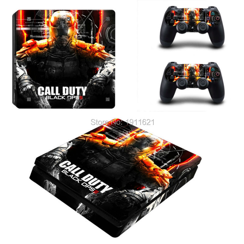 OSTSTICKER Custom skin sticker for PlayStation 4 slim console + 2 pcs decal for controller skins Games accessories