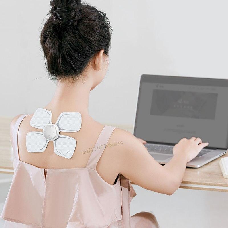 Xiaomi Mijia LF autocollant magique de Massage à quatre roues motrices masseur électrique intelligent corps Relax travail musculaire avec l'application Mijia-in Télécommande connectée from Electronique    2
