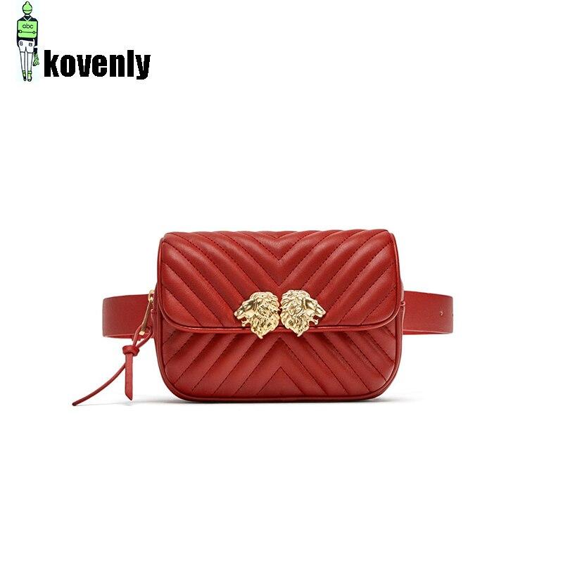 Waist Bags For Women Zipper Phone Purse Shoulder Bag Pu Leather Fanny Pack Ladies Shopping Bolsa Travel Waist Packs 51