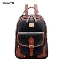 Винтажный кожаный рюкзак через плечо путешествий школа сумка рюкзак