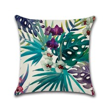 Tropical Leaves And Flowers Printed Pillow Cases
