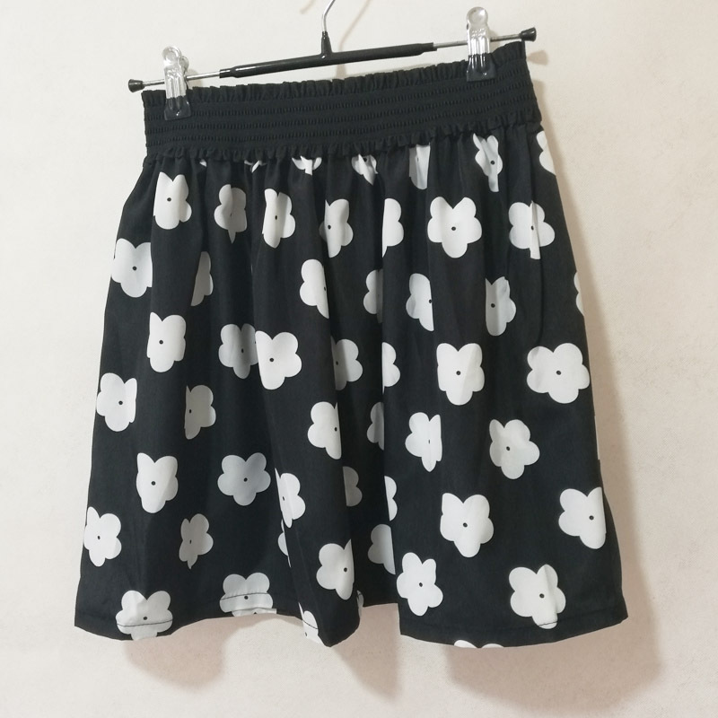 Fashion Pleated Retro High Waist Summer floral plaid Short Mini Skirts 22