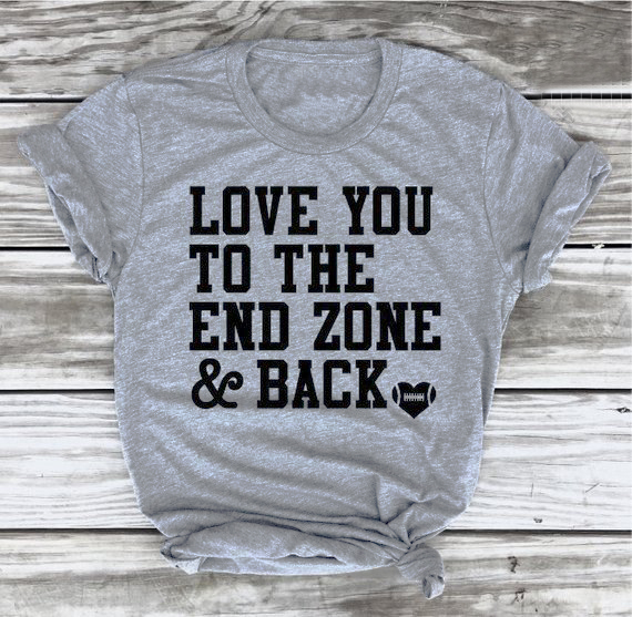 Download Love You To The End Zone and Back Heart T Shirt Grunge ...