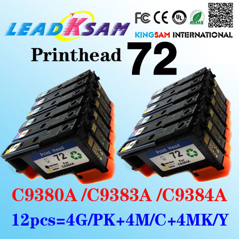 2019 New Style 12x Compatible For Hp72 Printhead Designjet T1100 T1120 T1100ps T610 T620 T1100 C9383a C9380a C9384a