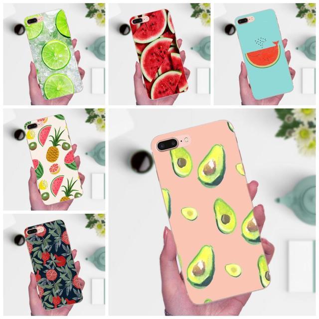 Para Huawei Mate 7 8 9 10 20 P8 P9 P10 P20 P30 Lite Plus Pro 2017 suave Capa de verano fruta piña sandía limón