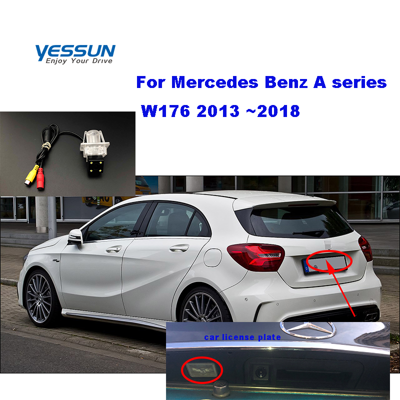 Yessun HD CCD Night Vision Car Rear View Reverse Backup Camera Waterproof For Mercedes Benz A Series W176 2013 ~2018