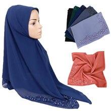 Цветок с вышивкой мусульманский женский головной платок жемчугом