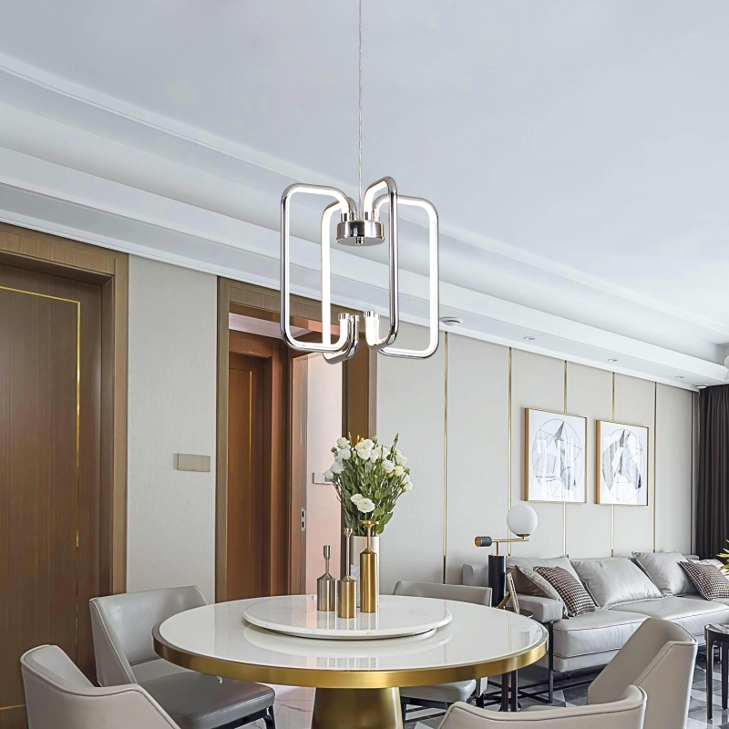 Gold/Chrome Plated Finish Modern led Pendant lights for living Room bedroom dining room home Deco 110V 220V Pendant Lamp Fixture-in Pendant Lights from Lights & Lighting    1