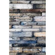 Fotografía Fondos de vinilo de fondo para estudio de la foto de la vendimia de madera bebé Floor-895