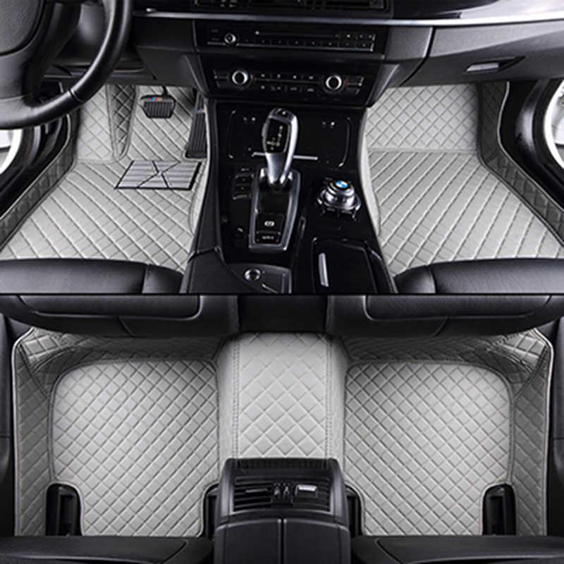 Tapetes do carro personalizado para Skoda Todos Modelo Octavia RS Fabia Superb Rápida Spaceback GreenLine Joyste styling car floor mat
