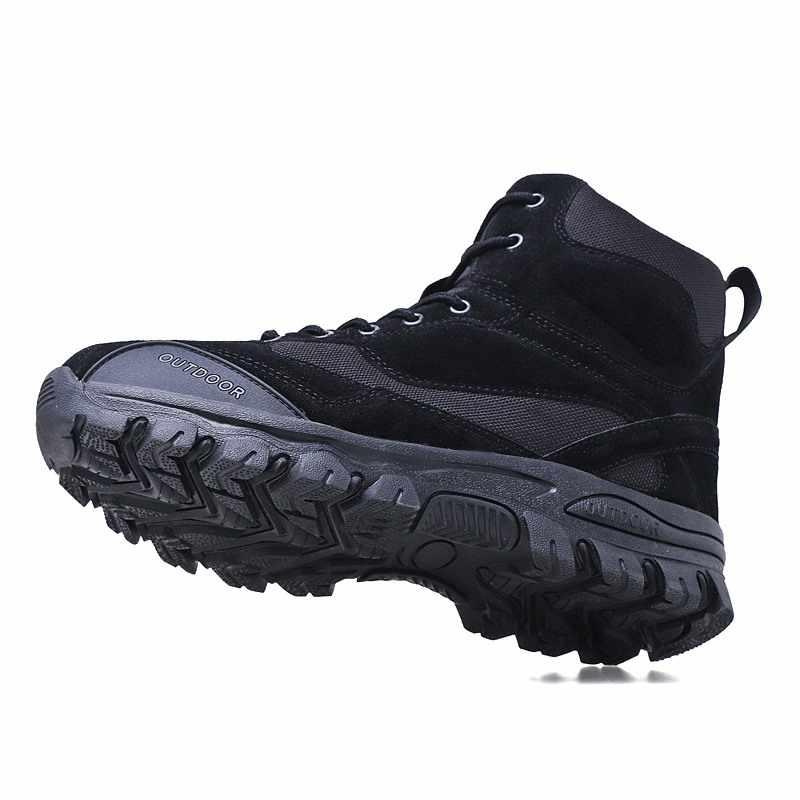Trasporto libero Autunno inverno Uomo Stivali Militari di Qualità Speciale Forza di Combattimento Deserto Tattico Caviglia Barche Dell'esercito di Lavoro Scarpe di Cuoio Stivali Da Neve