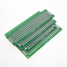 Free Shipping Dropshipping 4PCS 5×7 4×6 3×7 2x8cm double Side Copper prototype pcb Universal Board Fiberglass board for Arduino